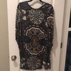 Long sleeve floral h&m dress